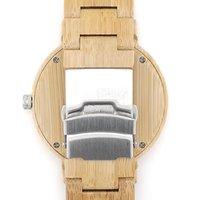 Precio de Cajas de madera relojes-BOBO PÁJARO N19 Reloj de madera de los nuevos Arrivel de los relojes el 100% reloj de bambú natural fresco con el barco de la marca de fábrica del diseño con la caja de regalo