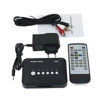 Venta al por mayor-Profesional Contiene USB y SD / MMC Puerto 720p HD Media Center Reproductor de RM / RMVB / AVI / MPEG TV caliente nuevo