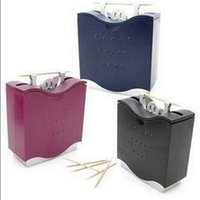 Wholesale Funny Weightlifting Man Design Toothpick Holder Automatic Dispenser Random Color