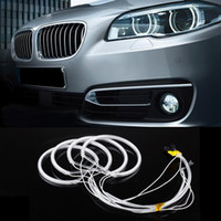 12v ccfl - New Car CCFL LED angel eye headlights LED chip car light super brightness white K auto headlight for BMW E46 E36 E39