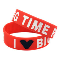 Jelly, Glow big bands music - Shipping I Love Big Time Rush Silicon Wristband Wide Band Perfect Gift for Music Fans