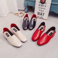 Wholesale nice solid grade PU comfort shoes flats Ankle Strap sweet women flats r toe Platform flats