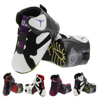 Wholesale PU baby shoes high toddler shoes sneakers for color