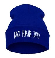 bad candy - High Elastic Adult Beanies Bad Hair Day beanie Candy Color Winter Casual Warm Beanie Hip Hop Can Embroidery Your Brand LOGO Caps girls
