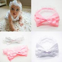 agate shop - New Style Beautiful Chidren Headband Kids Toddler Bow Turban Big Bow Headwrap Hot Sales Solid Bow Headband Drop Shopping
