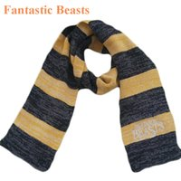 Wholesale Fantastic Beasts and Where to Find Them harry potter scarves Newt Scamander Cosplay Halloween striped scarf Cosplay Costume Christmas Gift