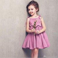 Filet d'enfant Coton Princesse Robe Filles Summer Beach jupe suaire respirant respirant et doux confortable fashion new kid242