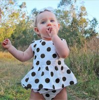 Wholesale Children s Fashion Dots Sets Infant Baby Girls Dots Dresses with Short pants Babies Casual Summer Outfits bebe clothing