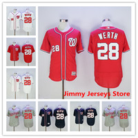 Wholesale Jayson Werth Jersey Hot Sale Mens Washington Nationals baseball Jerseys Good Quality Flexbase Coolbase Red Blue White Grey