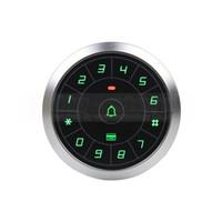 Wholesale 125KHz Rfid Card Reader Door Access Controller System Password Keypad Door Bell Button Users Circular Metal Case