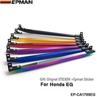 Wholesale EPMAN LOWER TIE BAR REAR FOR HONDA CIVIC EG EF DA DG with BEAKS Sticker EP CA1789EG Black silver golden purple blue