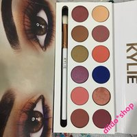 Wholesale 2017 Kylie Jenner colors Eyeshadow palette with pen Royal Peach Palette By DHL
