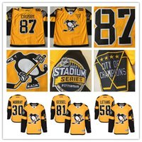 Wholesale 2017 Stadium Series Premier Jersey Pittsburgh Penguins Jersey Sidney Crosby Matt Murray Kris Letang Phil Kessel Hockey Jersey