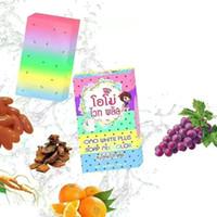Wholesale New Arrivals OMO White Plus Soap fruitamin soap Mix Color Plus Five Bleached White Skin Gluta Handmade Rainbow Soap