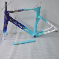 Wholesale 2017 Blue Concept Road Bicycle Carbon Frame Carbon Bike Frame Size XXS XS S M L XL BB386 BB30 or BB68 adapter Colors Choice