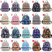 Wholesale 20 Design Backpack canvas bag fashion Women Bags cartoon children school bags Backpack small canvas bag