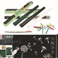Wholesale 45x200cm Chalk Board Blackboard Stickers Colors Removable Vinyl Draw Decor Mural Decals Art Chalkboard Wall Sticker WallpapeFor Kids Rooms