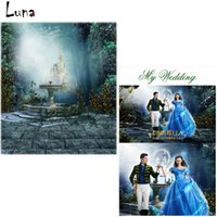 Wholesale 5x7ft Fairy Tale Cinderella Vinyl Photography Background Backdrops For Wedding Castle Background for photo studio