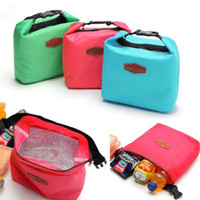 Wholesale Insulated Tote Lunch Bag Box Cool Canvas Thermal Handbag Lunch Totes Bag Carry Case Picnic Travel Pouch Camping Outdoor Food Bags D528