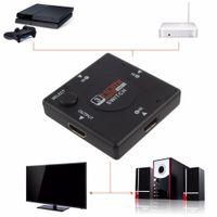 Revisiones X vedio-Mini 3 conmutador de alta definición de 3 puertos HDMI Switcher HDMI Splitter HDTV HD DVD 1080P Vedio adaptador para PS3