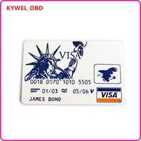 al por mayor tarjetas visa-2017 Hot Visa James Bond Tarjeta de Crédito Pickset Hook Lock Pick Set, cerradura de la herramienta de selección cerradura toolfree envío