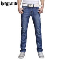 basic style jeans - Men Straight Jeans Fashion Skinny Jeans Men s Denim Trousers Basic Style Pocket Pants Washed Jeans Retro Pantalones MKN345