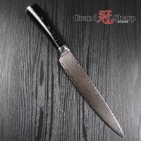 Wholesale Grandsharp Inch Slicing Carving Knife Layers Japanese Damascus Stainless Steel VG Core Kitchen Knives Christmas Gift NEW