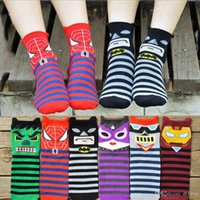 100 % wool socks - Women s socks Pure cotton socks D printing cartoon knitted Casual Stockings winter wool socks Korean version