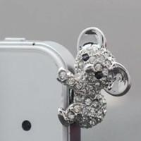 al por mayor enchufe de teléfono del koala-Cute Diamond Koala Anti tapón de oído tapón de enchufe para todos los auriculares de 3,5 mm Plug Smart Phone Accesorios de auriculares Jack a smartphone móvil