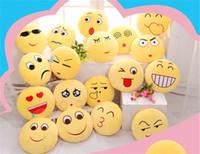 Wholesale 2016 Soft Emoji pillow Smiley Emoticon Round Cushion Pillow Sofa Stuffed Plush Toy Doll Christmas whatsapp emoji Cushion A113010
