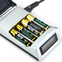 Wholesale Original C905W Slots LCD Display Smart Intelligent Battery Charger for AA AAA NiCd NiMh Rechargeable Batteries