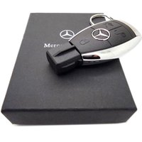 Wholesale 50pcs free dhl real real gbNew Fashion High Speed Mercedes Benz Car Key GB GB GB GB USB Flash Drive