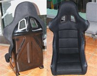 Wholesale One Buckets Series Car Seat MA Fiberglass Frame Black Blue Red Alcantara Suede Cloth Racing Car Bucket Seats