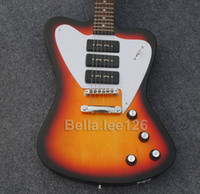 Wholesale Custom Thunder bird guitar sunburst color as gift Made in China guitars