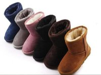 baby faux fur boots - Hot sell New Real Australia High quality Kid Boys girls children baby warm snow boots Teenage Students Snow Winter boots