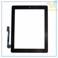 Wholesale Free DHL Shipping Grade AAA quality for iPad Tested Touch Screen Glass Assembly Complete Replacement with Home Button Flex Cable