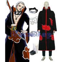 akatsuki ring necklace - Anime Naruto Akatsuki Hidan Cosplay Costume in Combo Set Cloak Headband Ninja Shoes Necklace Ring