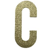 alphabet cutting dies - JC Pack Upper Case Letters C Large Glitter Alphabet die cut of Gold glitter paper piece per pack