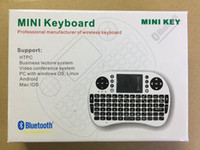Wholesale Mini G BT Rii i8 Bluetooth Keyboard Touch Pad mouse gaming Keyboard for iPhone Samsung HTPC Tablet Laptop PC Moblie Phone iPad