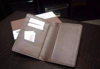 Wholesale Men genuine leather passport cover wallet women luxury credit card holder men business card holder travel wallet porte carte carteira