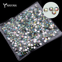 Wholesale Hot pack Fashion AB Rhinestone Nail Art Tools Charm Glitter DIY d Acrylic Nail Tips Decoration