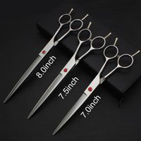Wholesale 7 quot quot quot professional pet grooming scissors Double tail nail universal Direct shear custom LOGO and model
