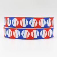 baseball grosgrain ribbon - ribbon inch mm baseball printed grosgrain ribbon webbing yards roll for headband