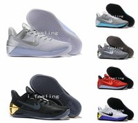 Wholesale 2017 New Kobe Elite Basketball Shoes For Men Black Gold Sports Mens Kobe s Sneakers Athletic Trainers Low KB Retro Shoes Size