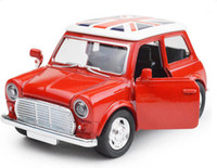 Wholesale Lovely Musical Pull Back Mini Beatles Alloy Car Model With Lights Doors Open Cute Baby Toys Gift For Kids Children Fashion Diecast Model Car