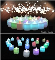 battery candles weddings - Candle Light Led Tea Lights Battery Electronic Candles with a Lover Keychain for Christmas Holloween Weddings Birthday Party