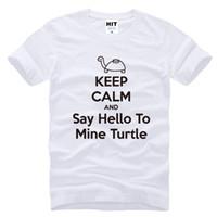 Mantenere la calma e dire Ciao a camicia miniera di Turtle Mens Men T 2017 manica corta della nuova novità O collo cotone Tshirt Tee