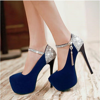 Wholesale 2017New sexy fine with waterproof units with ultra high bright red bride wedding shoe diamond club one word with women s shoes