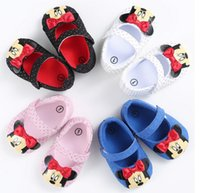 beautiful soles baby shoes - Beautiful bow girls spring autumn toddler shoes cheap baby cartoon soft soled shoes children casual shoes pair B
