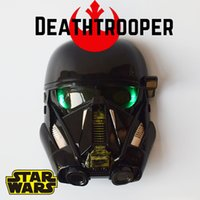 Wholesale Rogue One A Star Wars Story Deathtrooper plastic Electronic LED Mask cosplay face masks With light kids toys Halloween Zorn toy